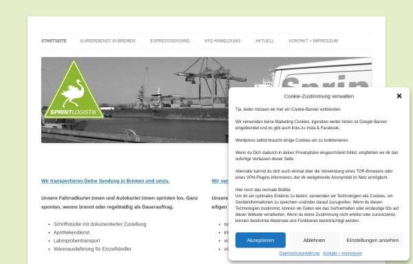 Vorschau von www.sprint-logistik.com, Sprint Logistik