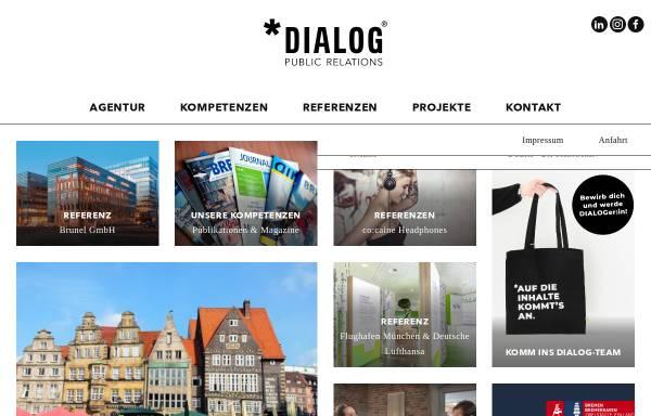 Vorschau von www.dialog-pr.com, Dialog Public Relations