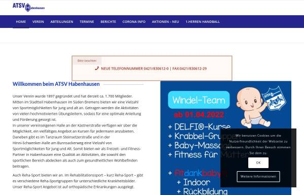 Vorschau von www.atsvhabenhausen.de, ATSV Habenhausen e.V.