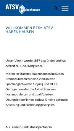 Vorschau der mobilen Webseite www.atsvhabenhausen.de, ATSV Habenhausen e.V.