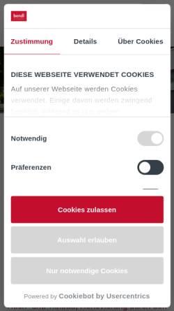 Vorschau der mobilen Webseite www.bendl.de, Bauunternehmen Bendl GmbH