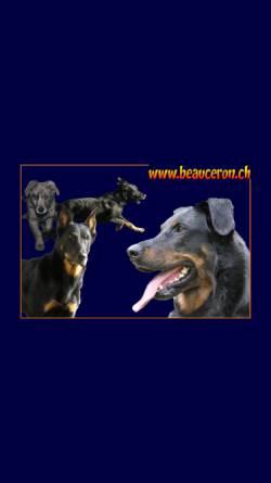 Vorschau der mobilen Webseite www.beauceron.ch, Schweizerischer Klub der Beauceronfreunde