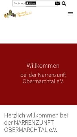 Vorschau der mobilen Webseite www.narrenzunft-obermarchtal.de, Narrenzunft Obermarchtal