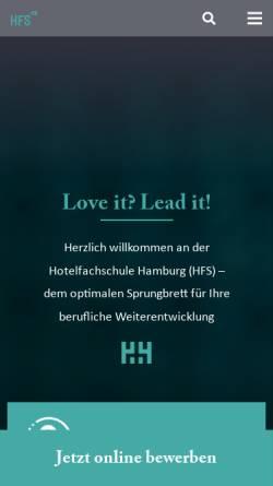 Vorschau der mobilen Webseite www.hotelfachschule-hamburg.de, Hotelfachschule Hamburg