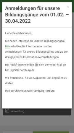 Vorschau der mobilen Webseite www.beruflicheschulehamburgharburg.de, Staatliche Handelsschule Harburg und Staatliches Wirtschaftsgymnasium