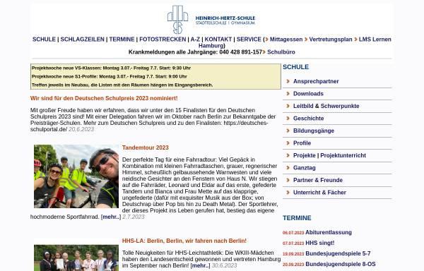 Vorschau von www.heinrich-hertz-schule-hamburg.de, Heinrich-Hertz-Schule