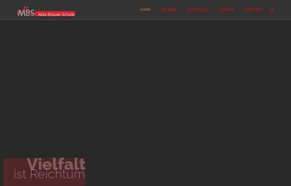 Vorschau von www.maxbrauerschule.de, Max-Brauer-Schule