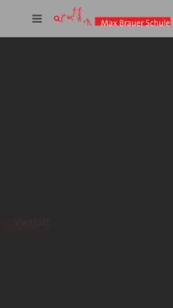 Vorschau der mobilen Webseite www.maxbrauerschule.de, Max-Brauer-Schule