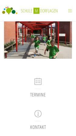 Vorschau der mobilen Webseite schule-moorflagen.hamburg.de, Grundschule Moorflagen