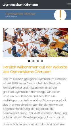 Vorschau der mobilen Webseite gymnasium-ohmoor.de, Gymnasium Ohmoor