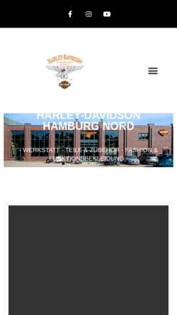 Vorschau der mobilen Webseite www.harley-hh.de, Harley Davidson Hamburg Nord