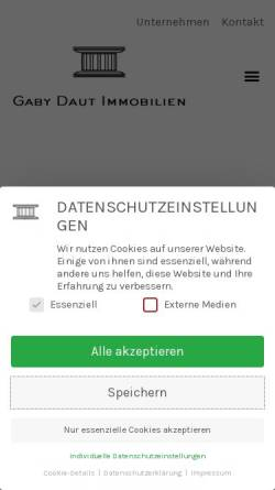 Vorschau der mobilen Webseite www.daut.de, Daut Immobilienmakler