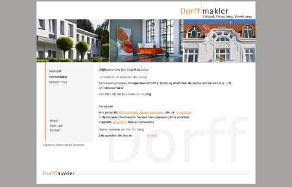 Vorschau von www.dorff-makler.de, Dorff-Makler