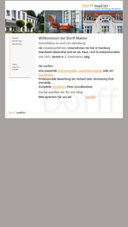 Vorschau der mobilen Webseite www.dorff-makler.de, Dorff-Makler