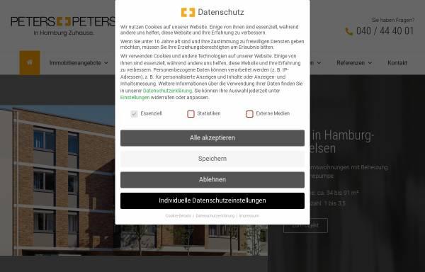 Vorschau von www.ppimmo.de, Makler Peters+Peters Immobilien