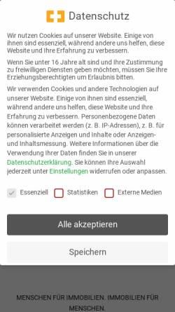 Vorschau der mobilen Webseite www.ppimmo.de, Makler Peters+Peters Immobilien