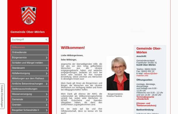 Vorschau von www.ober-moerlen.info, Gemeinde Ober-Mörlen