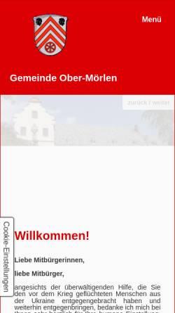 Vorschau der mobilen Webseite www.ober-moerlen.info, Gemeinde Ober-Mörlen