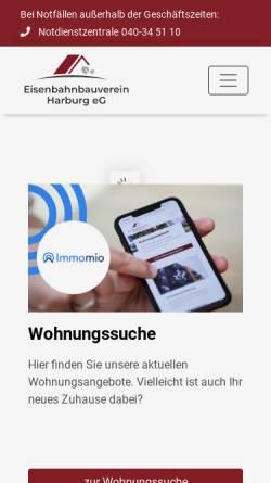 Vorschau der mobilen Webseite www.ebv-harburg.de, Eisenbahnbauverein Harburg