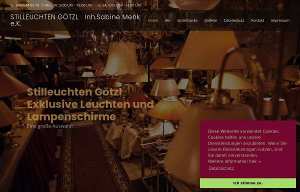 Vorschau von www.stilleuchten-goetzl.de, Stilleuchten Goetzl