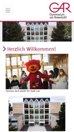 Vorschau der mobilen Webseite www.rotenbuehlgym.de, GaR Gymnasium am Rotenbühl