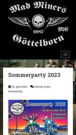 Vorschau der mobilen Webseite motorradfreunde-goettelborn.de, MF Motorradfreunde 1987 Göttelborn