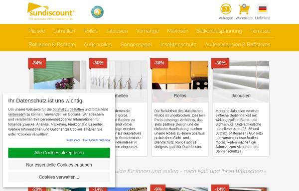 Vorschau von www.sundiscount.eu, Sonnenschutz Technologie GmbH