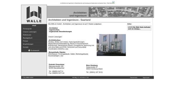 Vorschau von www.walle.de, Walle GmbH