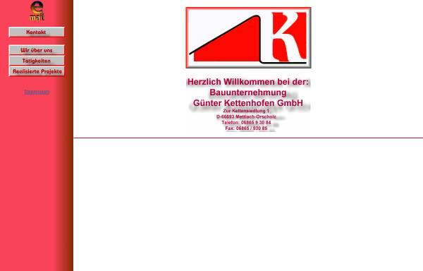 Vorschau von www.bau-kettenhofen.de, Bauunternehmung Günter Kettenhofen GmbH Orscholz