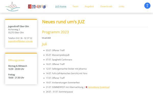 Vorschau von www.jugendtreff.ober-olm.de, Kommunaler Jugendtreff
