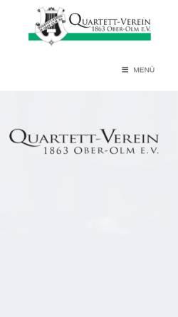 Vorschau der mobilen Webseite www.quartett-verein.de, Quartett-Verein 1863 Ober-Olm e.V.