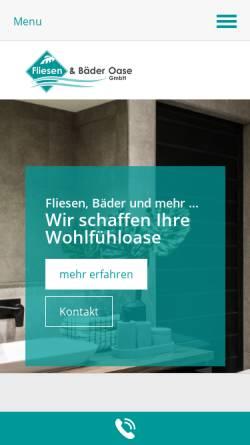 Vorschau der mobilen Webseite www.fliesenundbaederoase.de, Fliesen- und Bäder-Oase GmbH