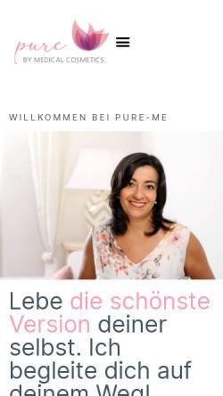 Vorschau der mobilen Webseite www.medicalcosmetics.de, Institut für Ganzheitskosmetik und Fachschulungen Medical Cosmetics