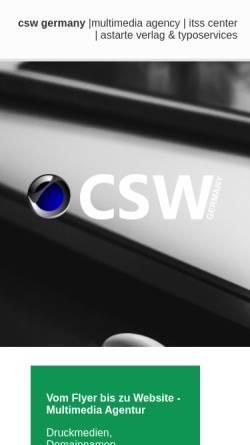 Vorschau der mobilen Webseite www.csv.net, CSW Germany Andreas Neumann