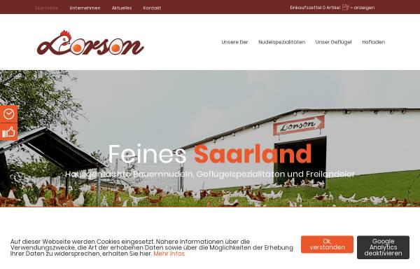 Vorschau von www.eier-lorson.de, Geflügelhof Lorson und Sohn GmbH Differten