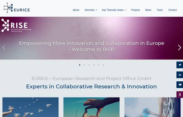 Vorschau von eurice.eu, Eurice European Research and Project Office GmbH