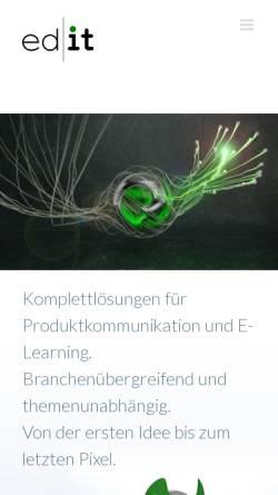 Vorschau der mobilen Webseite www.ed-it.de, Kessler Beier ed-it GbR