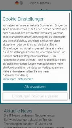 Vorschau der mobilen Webseite www.eurodata.de, eurodata AG
