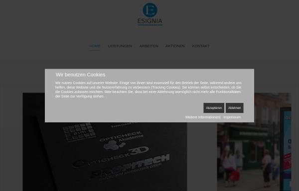 Vorschau von www.esignia.eu, Esignia Mediengestaltung und Webdesign