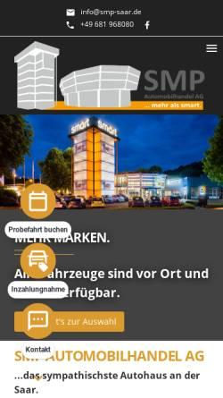 Vorschau der mobilen Webseite www.smart4saar.de, SMP Automobilhandel AG