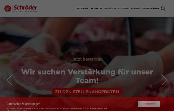 Vorschau von www.schroeder-fleischwaren.de, Schröder Fleischwarenfabrik GmbH & Co. KG