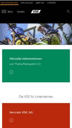 Vorschau der mobilen Webseite www.vse.de, VSE Vereinigte Saar Elektrizitäts AG