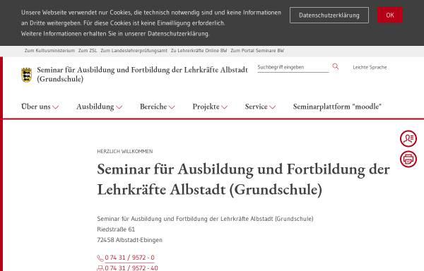 Vorschau von www.seminar-albstadt.de, Staatliches Seminar Albstadt