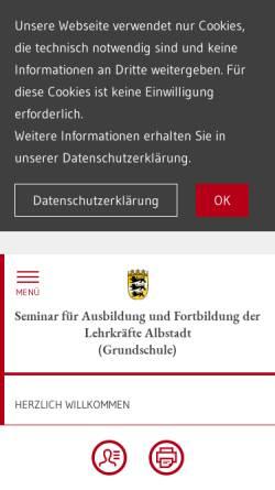 Vorschau der mobilen Webseite www.seminar-albstadt.de, Staatliches Seminar Albstadt