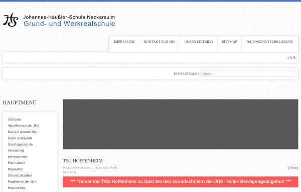 Vorschau von www.jhs-neckarsulm.de, Johannes-Häußler-Schule