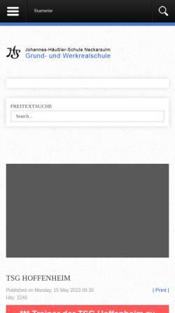 Vorschau der mobilen Webseite www.jhs-neckarsulm.de, Johannes-Häußler-Schule