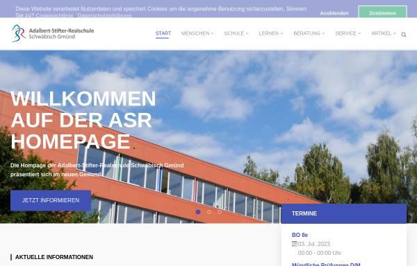 Vorschau von www.asr-gd.de, Adalbert-Stifter-Realschule