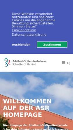 Vorschau der mobilen Webseite www.asr-gd.de, Adalbert-Stifter-Realschule