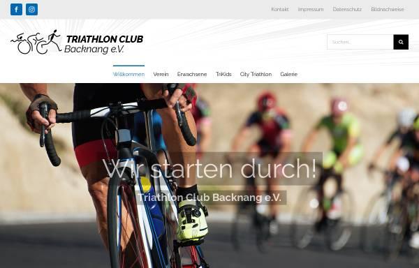 Vorschau von www.triaclubbacknang.de, Triathlon Club e.V.