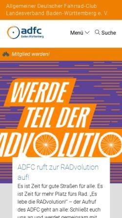 Vorschau der mobilen Webseite www.adfc-bw.de, ADFC Kreisverband Böblingen